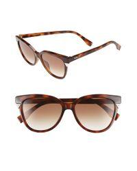 Fendi | Brown 53mm Cat Eye Sunglasses - Havana | Lyst