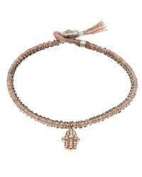 Brooke Gregson - Pink Silk Pave Diamond Hamsa Crochet Bracelet - Lyst