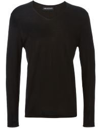 Neil Barrett - Black Lightweight Sweater for Men - Lyst