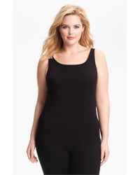 Eileen Fisher | Black Organic Cotton Tank | Lyst