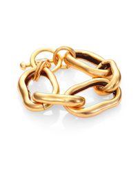 Oscar de la Renta - Metallic Link Bracelet - Lyst