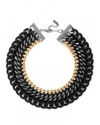 BaubleBar | Metallic Obsidian Mixed Metal Links | Lyst