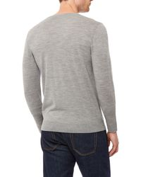 Jaeger | Gray Gostwyck V-neck Sweater for Men | Lyst