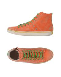 Leather Crown | Orange High-tops & Trainers | Lyst