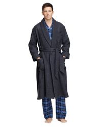 Brooks Brothers   Gray Cashmere And Wool Robe for Men   Lyst