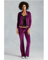True Religion | Purple Velour Womens Sweatpant | Lyst