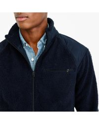 J.Crew | Blue Grizzly Fleece Full-zip Jacket for Men | Lyst