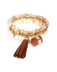 Panacea - Natural Stone & Bead Multistrand Bracelet - Lyst