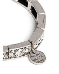 Philippe Audibert | Metallic Crystal Embellished Elasticated Bracelet | Lyst