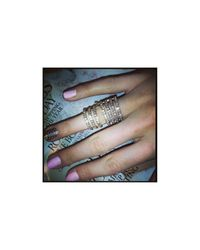 Henri Bendel - Metallic Double Down Ring - Lyst