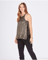 Parker - Metallic Brody Top - Lyst