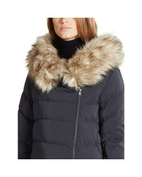 Ralph Lauren - Black Detachable-hood Down Coat - Lyst