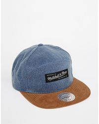 Mitchell & Ness - Blue Broken H-panel Clipback Cap for Men - Lyst