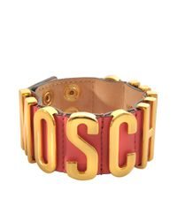 Moschino | Metallic Lettering Bracelet | Lyst