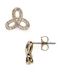 Nadri - Metallic The Knot Twist Stud Earrings - Lyst