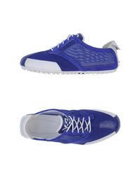 Y-3 - Blue Lowtops Trainers - Lyst
