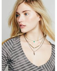 Free People | Blue Luxe Triple Necklace | Lyst