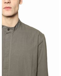 Silent - Damir Doma | Natural Cotton Paper Poplin Shirt for Men | Lyst