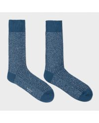 Paul Smith | Men's Thick Petrol Blue Glittered Socks for Men | Lyst