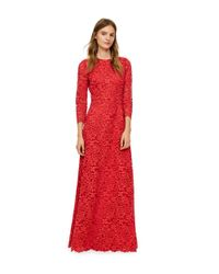 Tory Burch - Red Lace Gown - Lyst