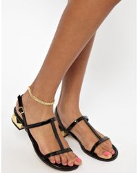 ASOS - Metallic Limited Edition Twist Chain Anklet - Lyst
