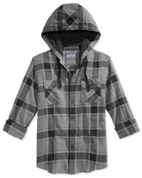 American Rag | Metallic Asuncion Plaid Hooded Shirt for Men | Lyst
