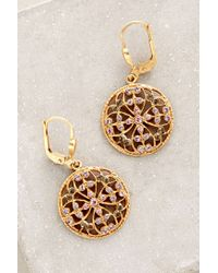 Anthropologie | Metallic Filigree Sunset Earrings | Lyst