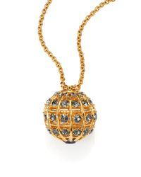 Alexander McQueen | Metallic Crystal Ball Pendant Necklace/Goldtone | Lyst