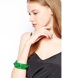 Kenneth Jay Lane - Green Stud Bracelet - Lyst