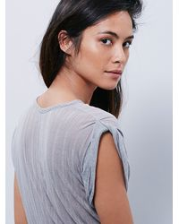 Free People - Gray Intimately Womens Intimately Muscle Tee - Lyst