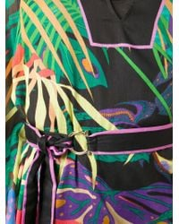 Ferragamo - Black Tropical Print Cover-Up - Lyst