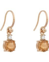 Irene Neuwirth - Metallic Diamond, Tourmaline & Multi Gold Drop Earrings - Lyst