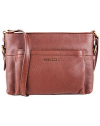Cole Haan - Brown Rockland Top Zip Crossbody - Lyst