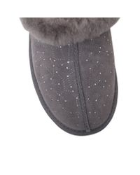 Ugg | Gray Moraene Constellation Fur Lined Slippers | Lyst