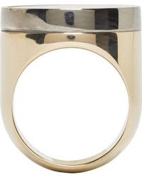 Givenchy - Metallic Gold Chevaliere Circular Ring - Lyst