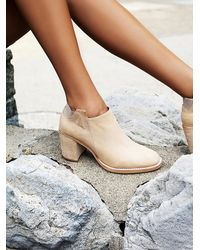 Free People - Natural Upper Peak Ankle Boot - Lyst