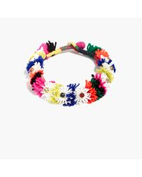 J.Crew | Multicolor Beaded Blossom Necklace | Lyst