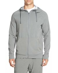 Nike | Gray Dri-fit Touch Fleece Full Zip Hoodie for Men | Lyst