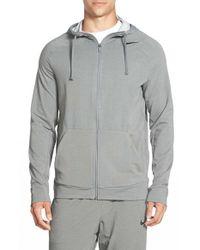 Nike - Gray Dri-fit Touch Fleece Full Zip Hoodie for Men - Lyst
