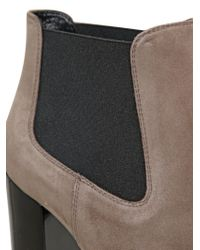 Hogan - Black 110mm Opti Suede Ankle Boots - Lyst