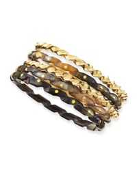 Ashley Pittman | Metallic Kuchonga Dark Horn Bangles | Lyst