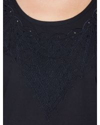 Linea Weekend | Black Cut Out Broderie Blouse | Lyst