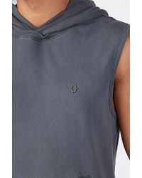 True Religion | Gray Pullover Sleeveless Mens Hoodie for Men | Lyst