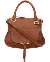 Chloé | Brown Calfskin Medium Marcie Bag | Lyst