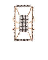 Diane Kordas | Pink Diamond & Rose-Gold Floating Ring | Lyst