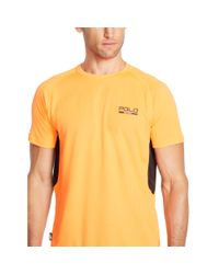 Ralph Lauren - Orange Micro-dot Jersey T-shirt for Men - Lyst