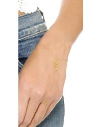 Jacquie Aiche | Metallic Ja Snake Chain Finger Bracelet - Yellow Gold | Lyst