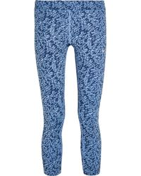 Nike - Blue Pronto Cropped Printed Stretch Leggings - Lyst