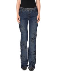 Roberto Cavalli - Blue Denim Trousers - Lyst