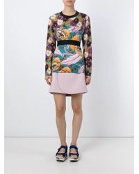 Marni | Multicolor Floral Print Sweater | Lyst